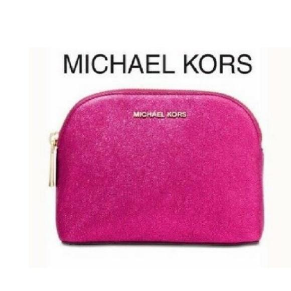 Michael Kors Handbags - Ultra Pink Small Clutch Bag Leather